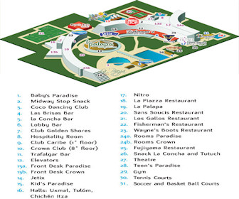 Crown Paradise Club Cancun Resort Map Layout