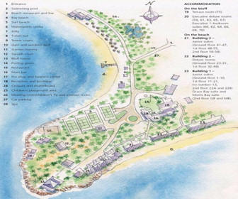 Curtain Bluff Resort Resort Map Layout