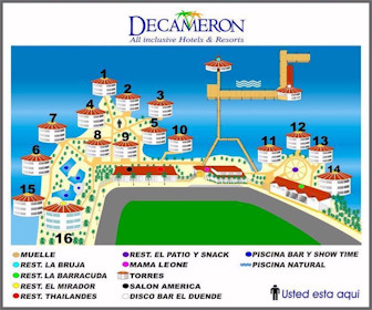 Decameron Aquarium Resort Map Layout