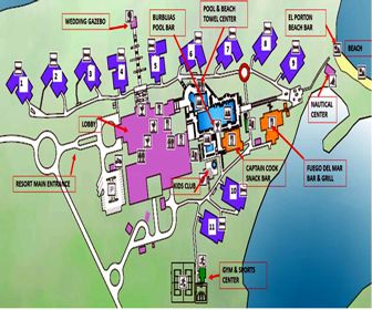 Dhawa Cayo Santa Maria Resort Map Layout