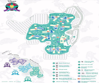 Disney's All-Star Movies Resort Map Layout