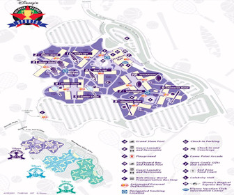 Disney's All-Star Sports Resort Map Layout