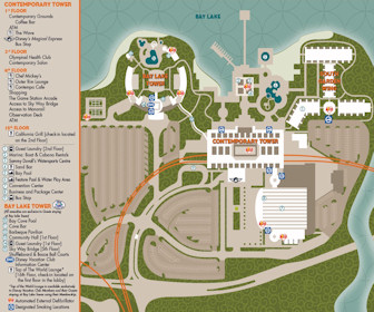 Disney''s Contemporary Resort Map Layout