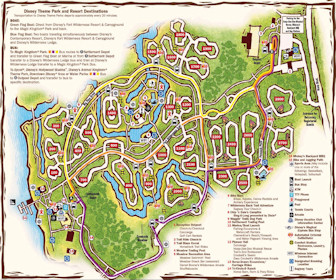 Disney's The Cabins at Fort Wilderness Resort Map Layout