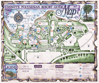 Disney's Polynesian Resort Map Layout