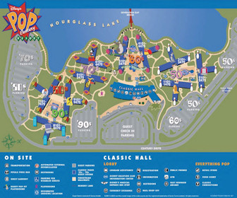 Disney's Pop Century Resort Map Layout