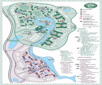 Disney's Port Orleans Resort and French Quarter Map Layout
