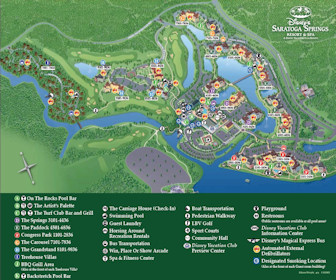 Disney's Saratoga Springs Resort & Spa Map Layout