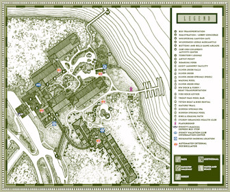 Disney's Wilderness Lodge and Villas Map Layout