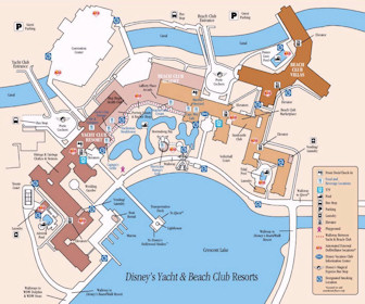 Disney''s Yacht Club Resort Map Layout