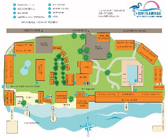 Divi Flamingo Beach Resort Map Layout