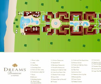 Dreams Dominicus La Romana Resort Map Layout