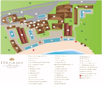 Dreams Huatulco Resort Map Layout