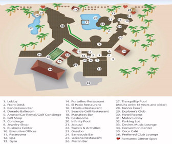 Dreams Los Cabos Resort Map Layout