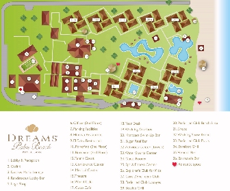 Dreams Palm Beach Resort Map Layout