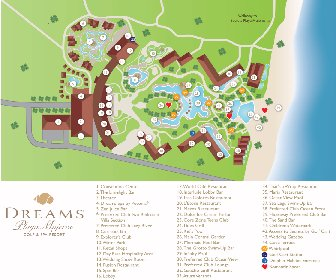 Dreams Playa Mujeres Golf & Spa Resort Map Layout