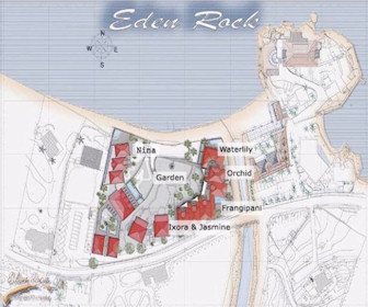 Eden Rock St.Barths Resort Map Layout