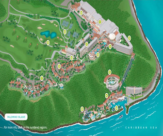 El Conquistador, A Waldorf Astoria Resort Map Layout