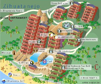 Embarc Zihuatanejo Resort Map Layout