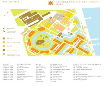 Excellence Riviera Cancun Resort Map Layout