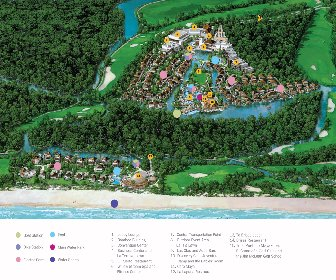 Fairmout Mayakoba Resort Map Layout