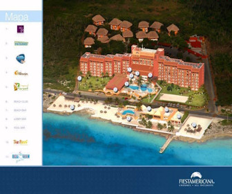 Fiesta Americana Cozumel Resort Map layout