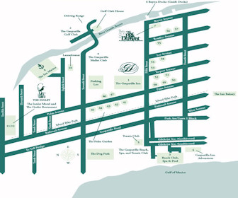 Gasparilla Inn & Club Map Layout
