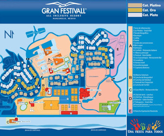Gran Festivall Resort Resort Map Layout