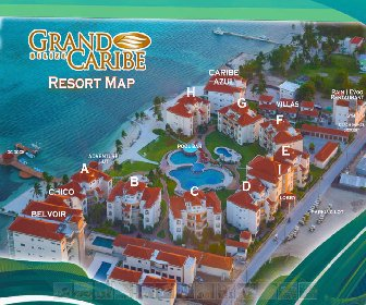 Grand Caribe Belize Resort Map Layout