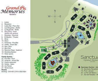Grand Memories Varadero Resort Map layout