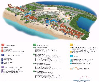 Grand Park Royal Luxury Resort Cancun Resort Map Layout