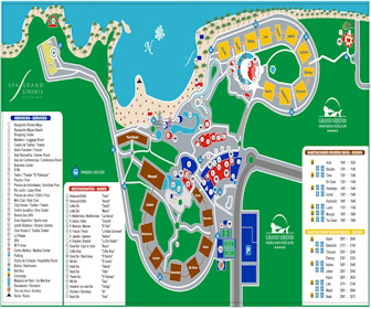 Grand Sirenis Riviera Maya Resort Map Layout