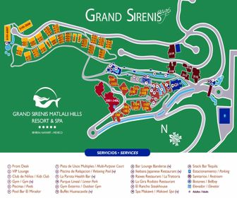 Grand Sirenis Matlali Hills Resort Map Layout