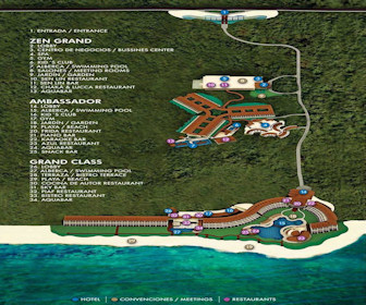 Grand Velas Riviera Maya Resort Map Layout