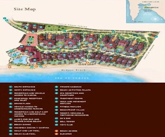 Hacienda Beach Club & Residences Resort Map Layout