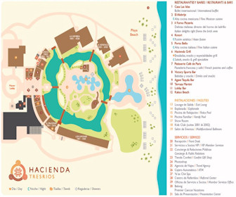 Hacienda Tres Rios Resort Map Layout