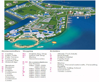 Hawks Cay Map Layout