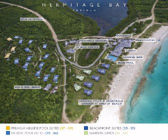 Hermitage Bay Resort Map Layout