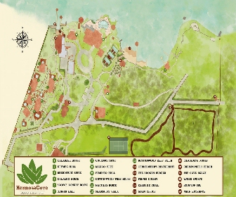 Hermosa Cove, Villa Resort & Suites Map Layout