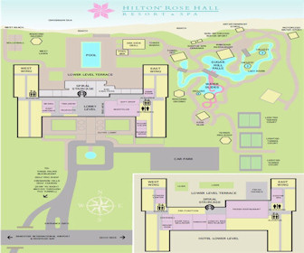 Hilton Rose Hall Resort & Spa Map Layout