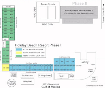 Holiday Beach Resort Phase I Map Layout