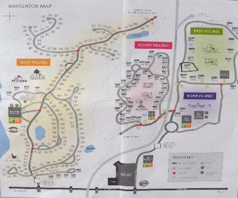 Holiday Inn Club Vacations Orlando - Orange Lake Resort Map Layout