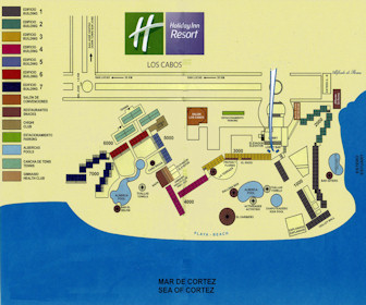 Holiday Inn Resort Los Cabos Map Layout