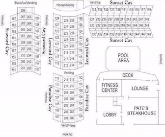 Holiday Inn of Naples Map Layout