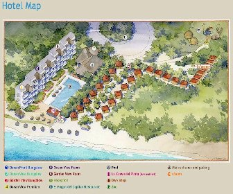Hotel Petit Lafitte Resort Map Layout