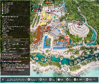 Hotel Xcaret Mexico Resort Map Layout