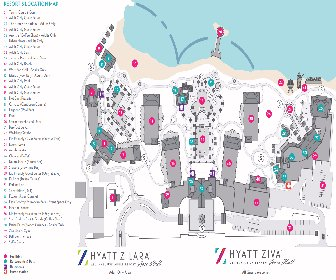 Hyatt Zilara and Ziva Rose Hall Resort Map Layout