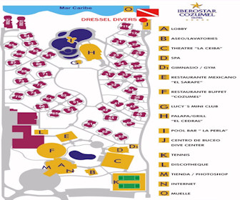 Iberostar Cozumel Resort Map layout