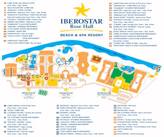 Iberostar Rose Hall Complex Resort Map Layout