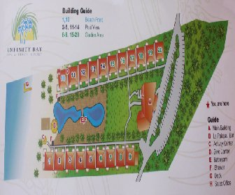 Infinity Bay Spa & Beach Resort Map Layout